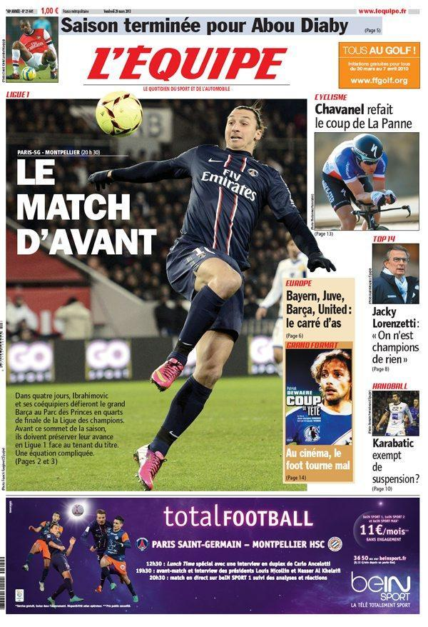 L'Equipe Vendredi 29 Mars 2013