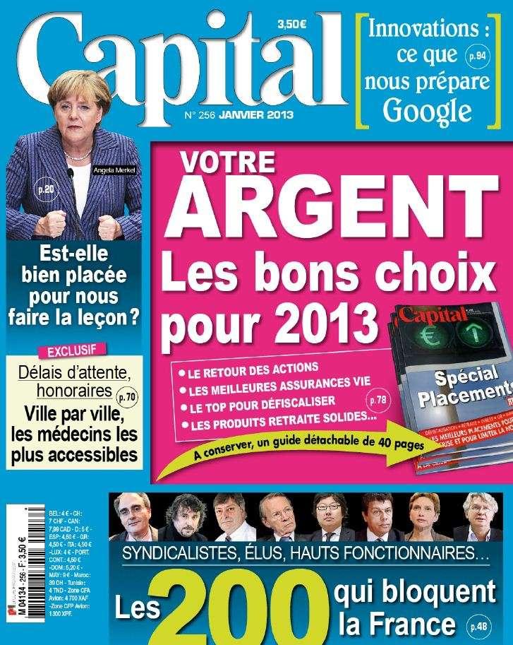 Capital N°256 Janvier 2013